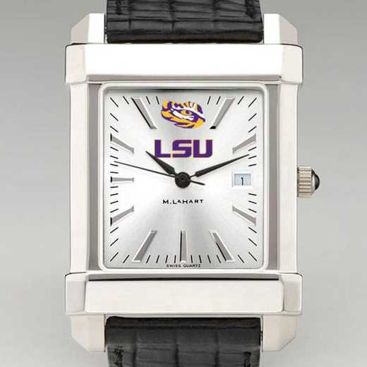 615789666752: LSU Men's Collegiate Watch W/ Leather Strap