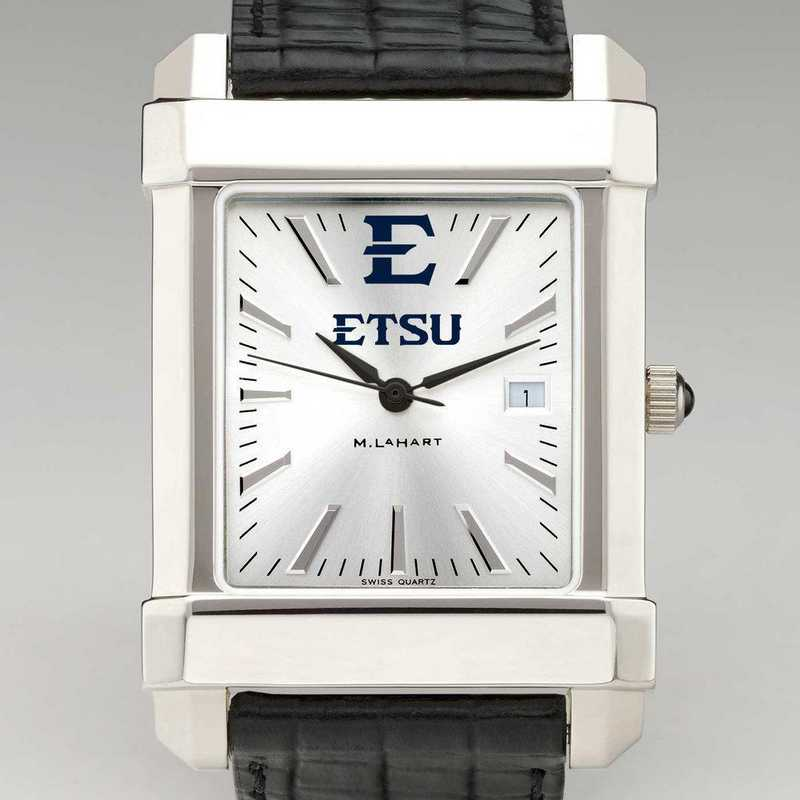 615789682097: East Tennessee St Univ Men's Collegiate Watch W/Lther Strap