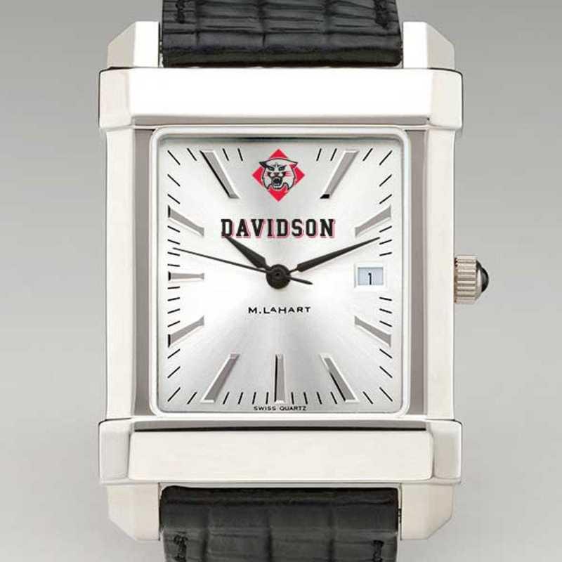 615789693802: Davidson College Men's Collegiate Watch W/ Leather Strap