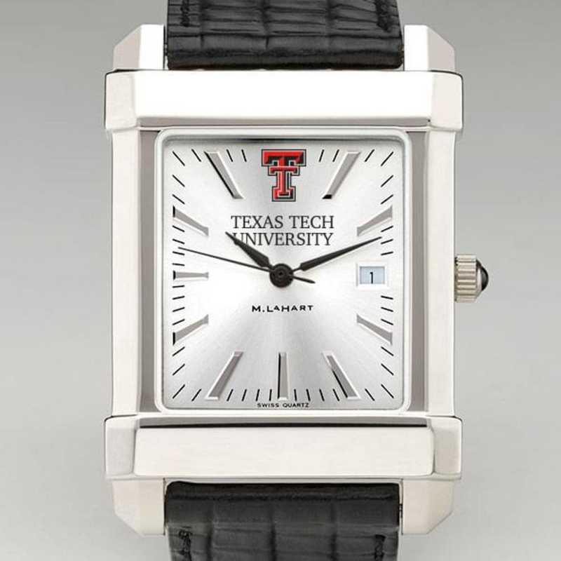 615789718550: Texas Tech Men's Collegiate Watch W/ Leather Strap