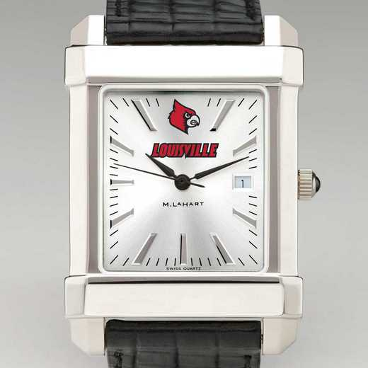 615789763482: Univ of Louisville Men's Collegiate Watch W/ Leather Strap