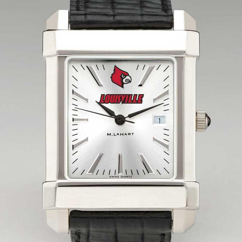 615789763482: Univ of Louisville Men's Collegiate Watch W/ Leather Strap