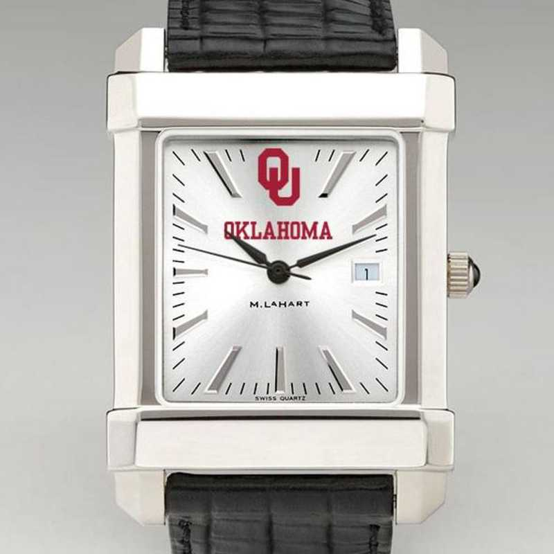 615789802488: Oklahoma Men's Collegiate Watch W/ Leather Strap