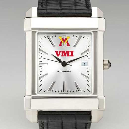 615789823681: VMI Men's Collegiate Watch W/ Leather Strap