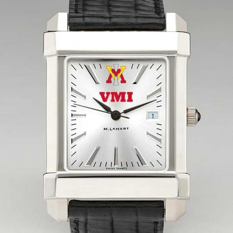 615789823681: VMI Men's Collegiate Watch W/ Leather Strap