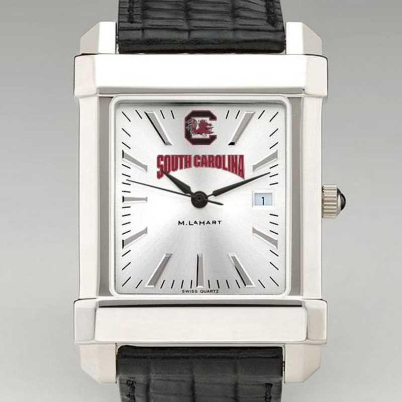 615789840336: South Carolina Men's Collegiate Watch W/ Leather Strap