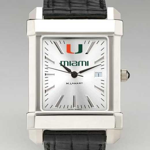 615789869023: Miami Men's Collegiate Watch W/ Leather Strap