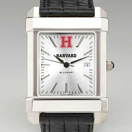 615789876250: Harvard Men's Collegiate Watch W/ Leather Strap