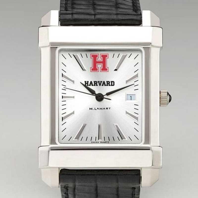 615789876250: Harvard Men's Collegiate Watch W/ Leather Strap
