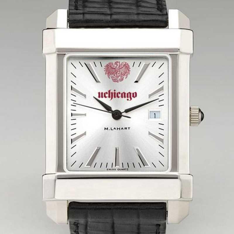 615789900191: Chicago Men's Collegiate Watch W/ Leather Strap