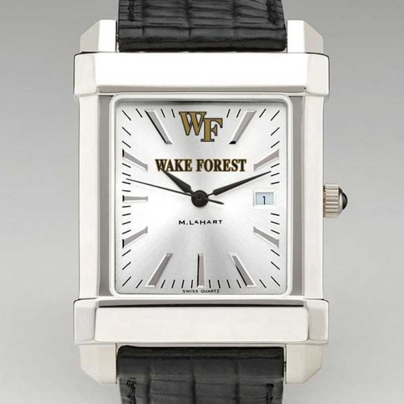 615789908685: Wake Forest Men's Collegiate Watch W/ Leather Strap