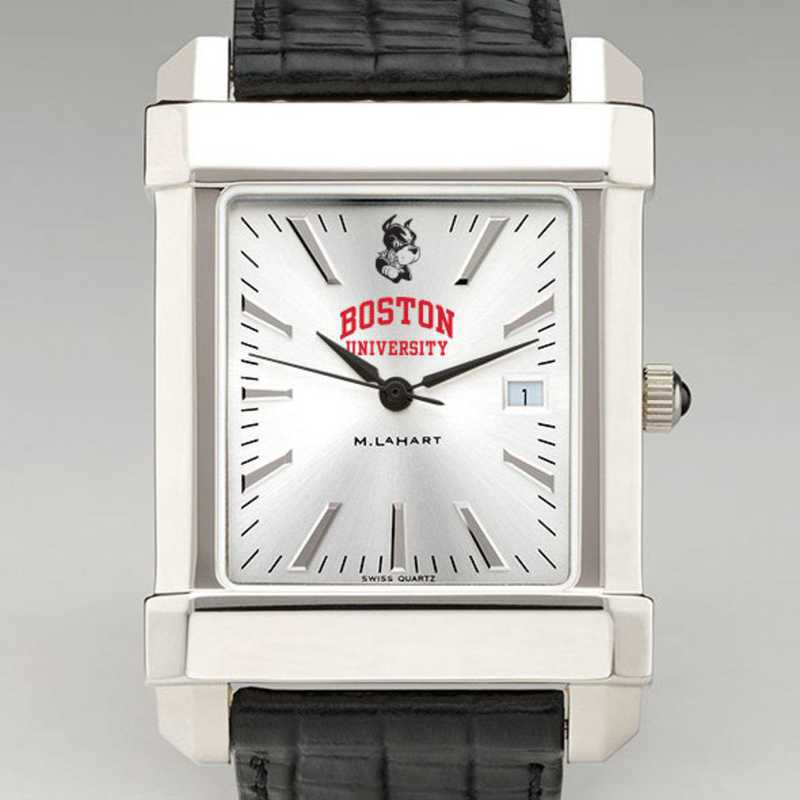 615789912385: Boston Univ Men's Collegiate Watch W/ Leather Strap
