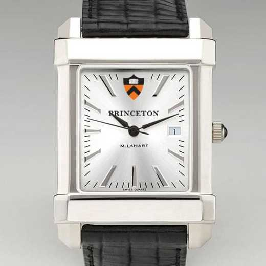615789915515: Princeton Men's Collegiate Watch W/ Leather Strap