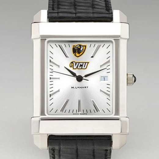 615789920304: VCU Men's Collegiate Watch W/ Leather Strap