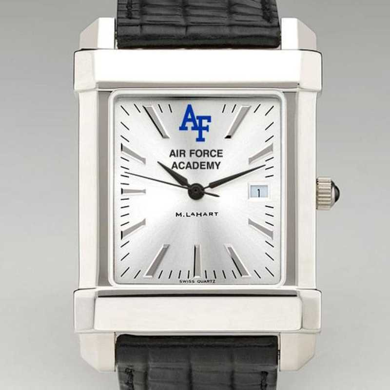 615789949329: Air Force Men's Collegiate Watch W/ Leather Strap