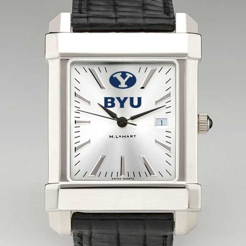 615789963943: Brigham Young Univ Men's Collegiate Watch W/ Leather Strap