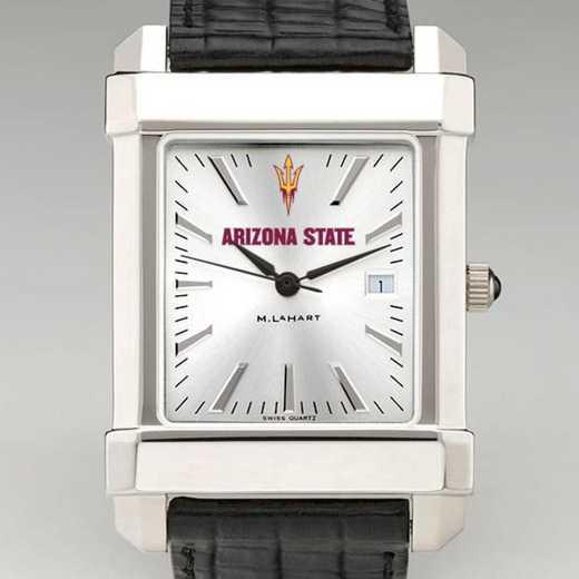 615789973409: Arizona State Men's Collegiate Watch W/ Leather Strap