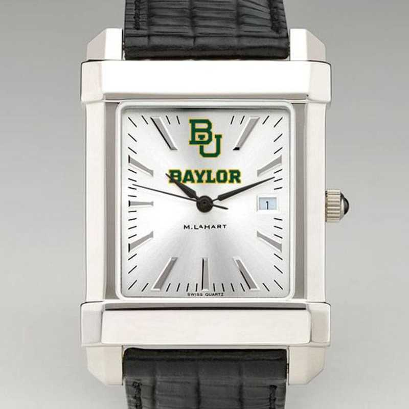 615789989523: Baylor Men's Collegiate Watch W/ Leather Strap
