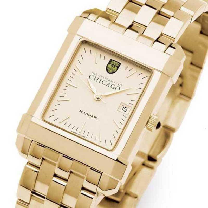 615789011545: Chicago Men's Gold Quad Watch with Bracelet