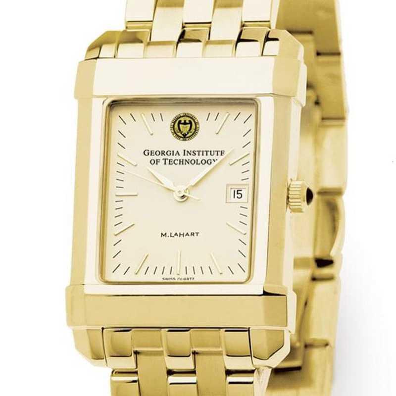 615789020844: Georgia Tech Men's Gold Quad Watch with Bracelet