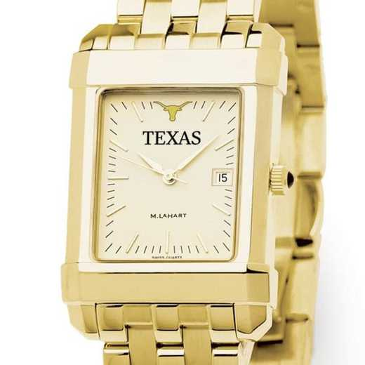615789054085: Texas Men's Gold Quad Watch with Bracelet