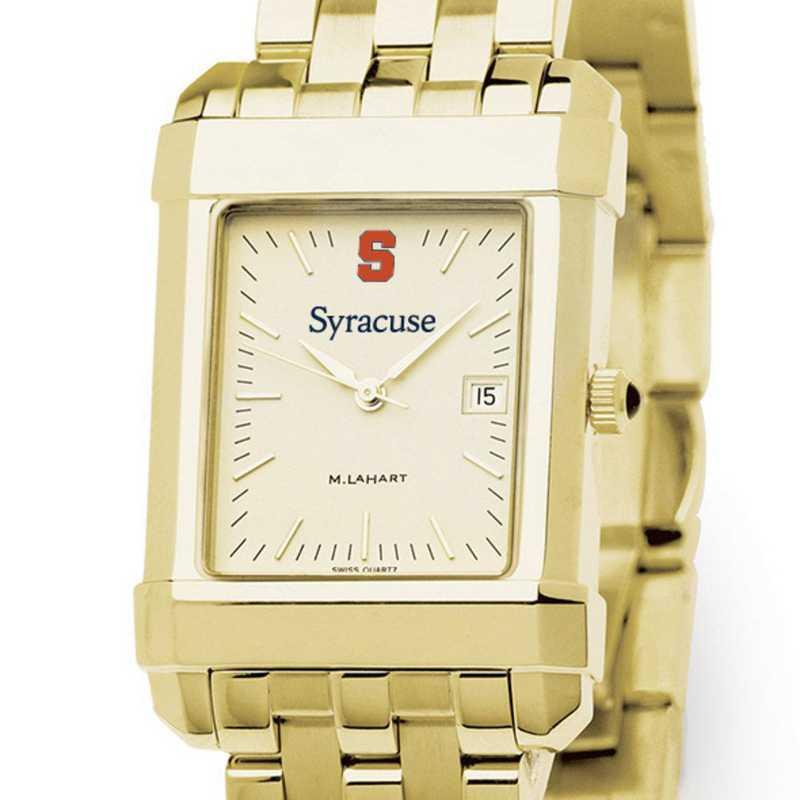 615789068563: Syracuse University Men's Gold Quad W/ Bracelet