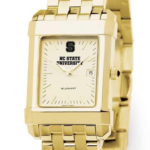 615789073680: NC ST Men's Gold Quad W/ Bracelet