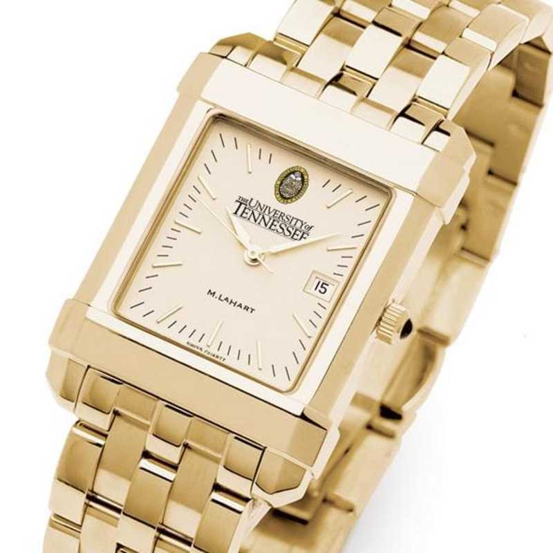 615789074250: Tennessee Men's Gold Quad Watch with Bracelet