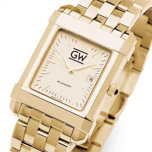 615789082590: George Washington Men's Gold Quad W/ Bracelet