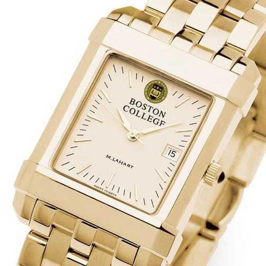 615789151760: Boston College Men's Gold Quad Watch with Bracelet