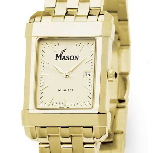 615789226352: George Mason University Men's Gold Quad W/ Bracelet