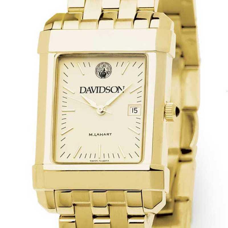 615789234791: Davidson College Men's Gold Quad W/ Bracelet