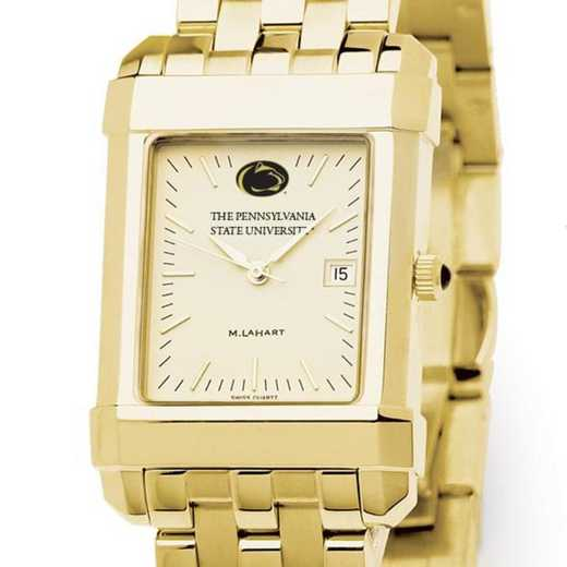 615789317029: Penn State Men's Gold Quad Watch with Bracelet