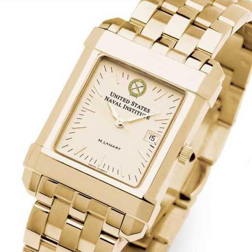 615789358671: USNI Men's Gold Quad Watch with Bracelet