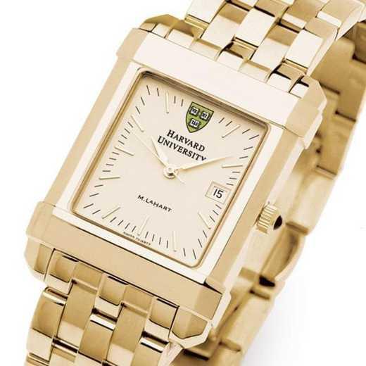 615789410102: Harvard Men's Gold Quad Watch with Bracelet
