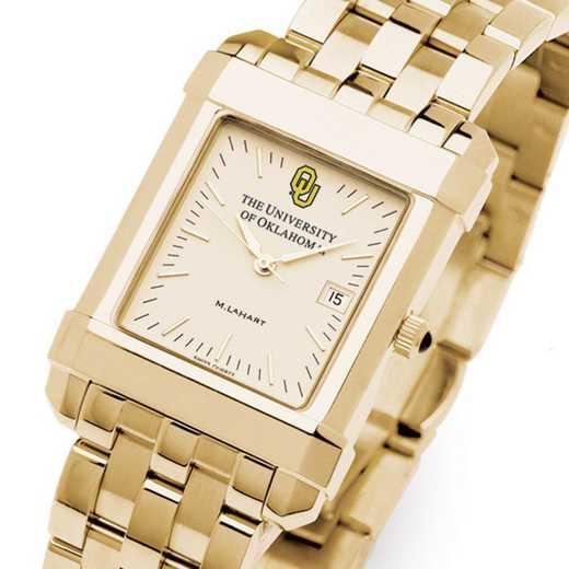 615789432913: Oklahoma Men's Gold Quad Watch with Bracelet