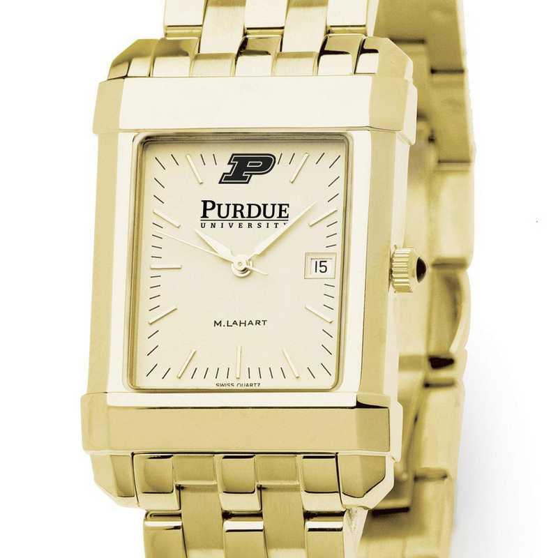 615789582083: Purdue University Men's Gold Quad W/ Bracelet