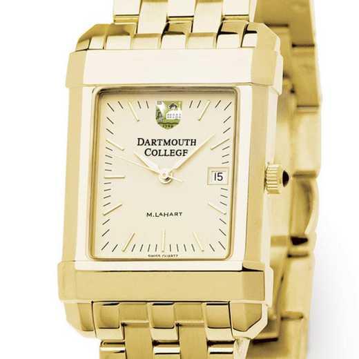 615789707653: Dartmouth Men's Gold Quad Watch with Bracelet
