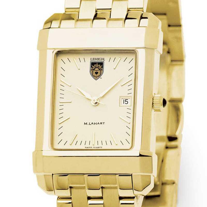 615789715481: Lehigh Men's Gold Quad Watch with Bracelet
