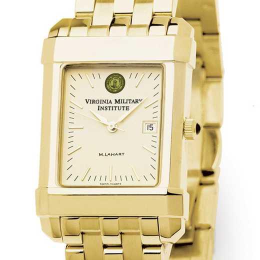 615789805182: VMI Men's Gold Quad Watch with Bracelet