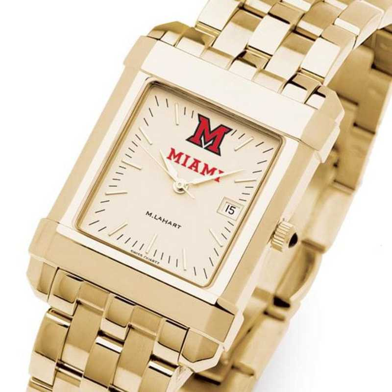 615789878827: Miami University Men's Gold Quad W/ Bracelet