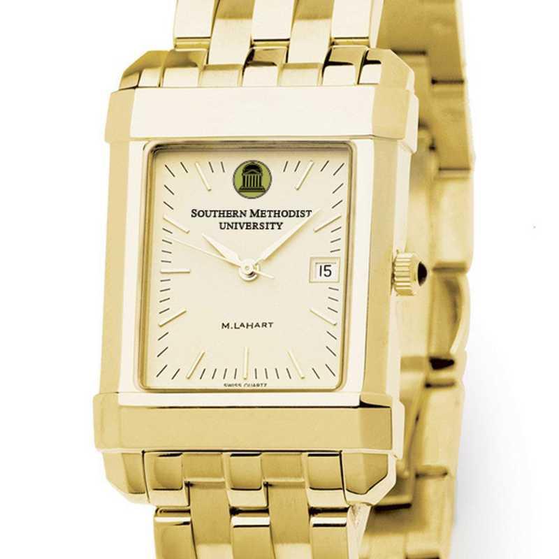 615789921370: SMU Men's Gold Quad Watch with Bracelet