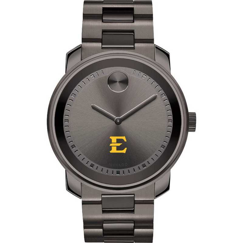 615789107156: East Tennessee State Univ Men's Movado BOLD gnmtl gry