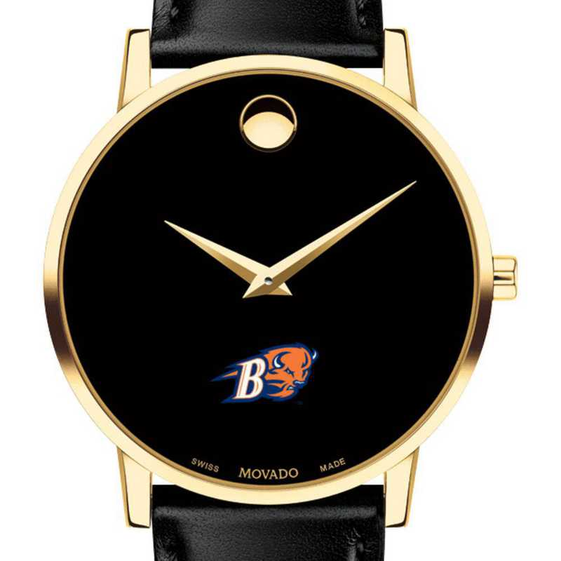 615789033073: Bucknell Univ Men's Movado Gold Museum Classic Leather