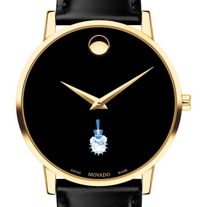 615789108368: Citadel Men's Movado Gold Museum Classic Leather