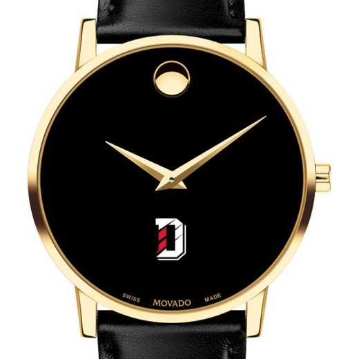 615789122586: Davidson College Men's Movado Gold Museum Classic Leather