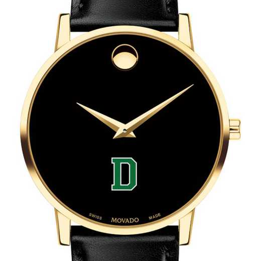 615789155614: Dartmouth College Men's Movado Gold Museum Classic Leather