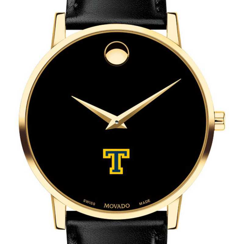 615789234180: Trinity College Men's Movado Gold Museum Classic Leather