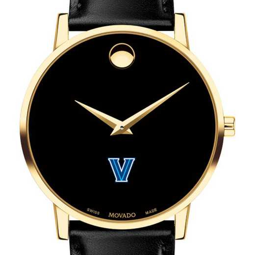 615789348504: Villanova Univers Men's Movado Gold Museum Classic Leather