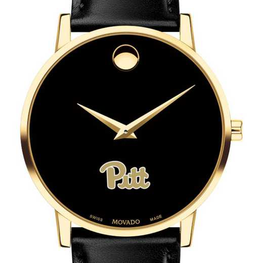 615789405191: Pitt Men's Movado Gold Museum Classic Leather